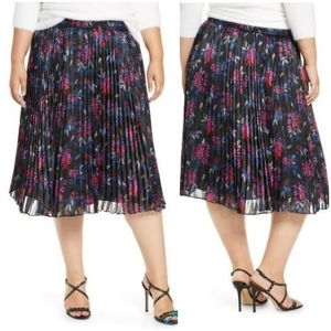 NEW Halogen Pleated Woven Floral Skirt